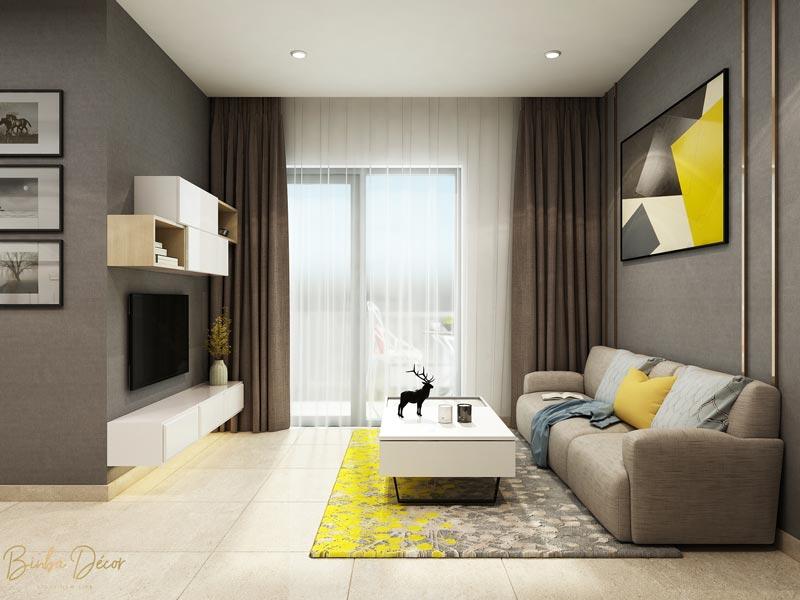 thiết kế chung cư phong cách hiện đại