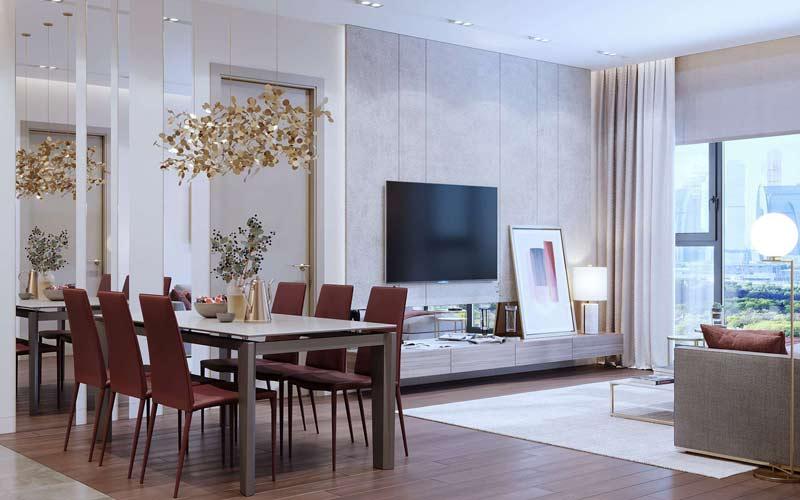 hệ thống ánh sáng trong căn hộ chung cư