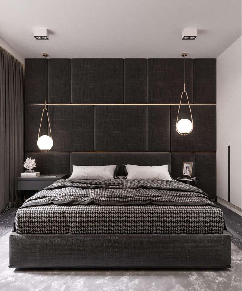 thiết kế nội thất màu đen