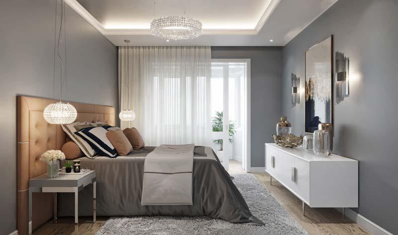 thiết kế nội thất màu xám