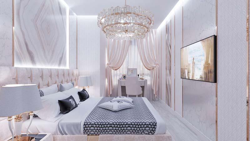 thiết kế nội thất màu trắng
