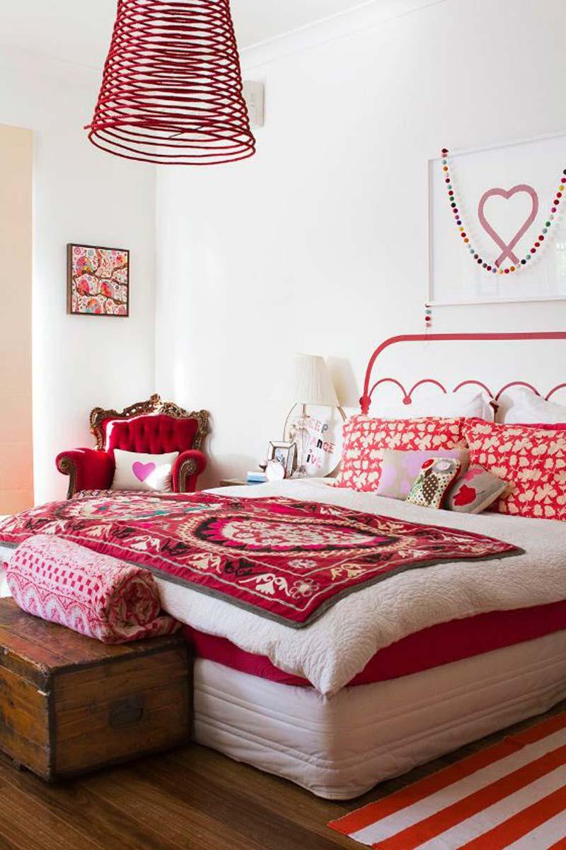 thiết kế nội thất màu đỏ