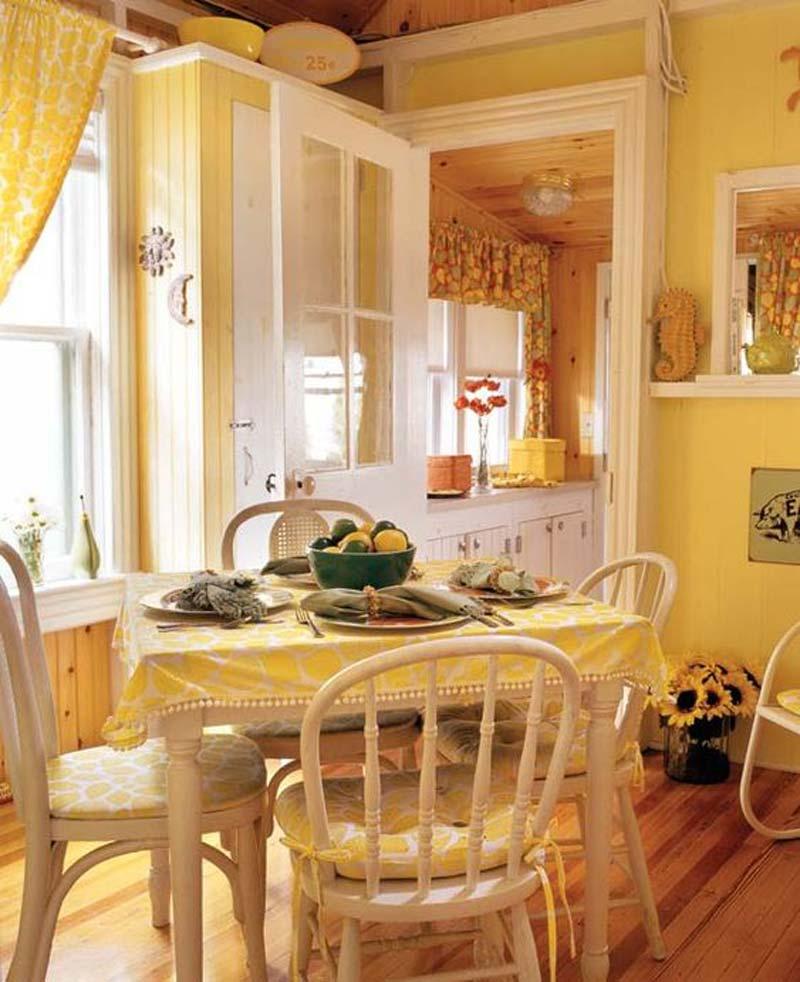 thiết kế nội thất màu vàng