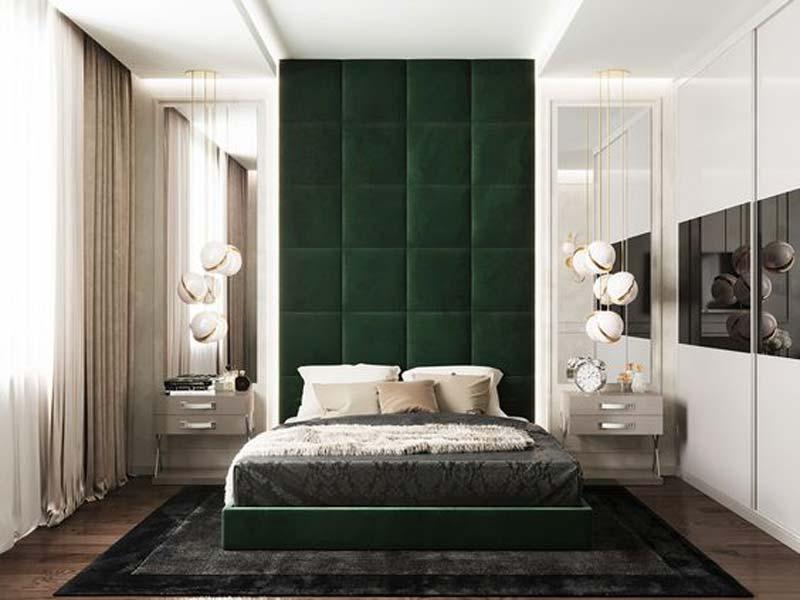 thiết kế nội thất màu xanh lá