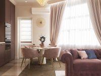 Bên cạnh màu đỏ, bạn có thể sử dụng màu tím hoặc hồng đất trong thiết kế nội thất để giúp không gian sống trở nên nhẹ nhàng hơn.