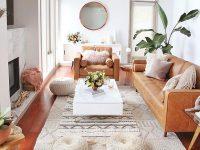 Hoặc bạn cũng có thể kết hợp thêm màu nâu đất để căn phòng bớt sự đơn điệu như hình trên.